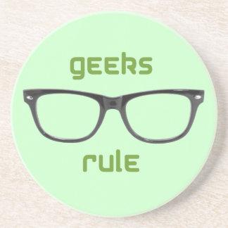 Geeks Rule Eyeglasses Drink Coasters
