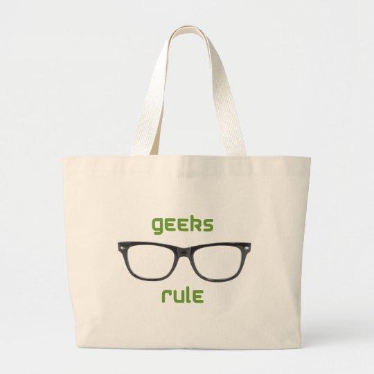 Geeks Rule Eyeglasses Large Tote Bag