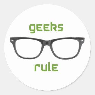 Geeks Rule Eyeglasses Stickers