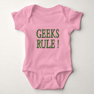 Geeks Rule !  Green Baby Bodysuit