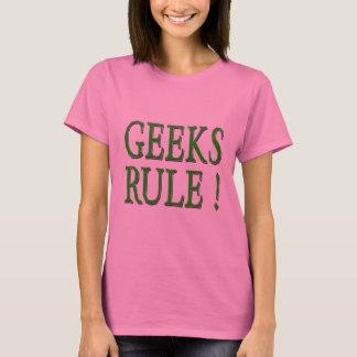 Geeks Rule !  Green T-Shirt