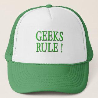 Geeks Rule !  Green Trucker Hat