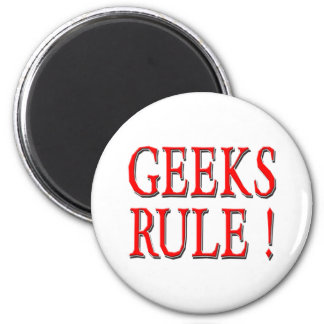 Geeks Rule !  Red 2 Inch Round Magnet