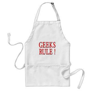 Geeks Rule !  Red Adult Apron