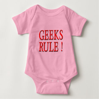 Geeks Rule !  Red Baby Bodysuit