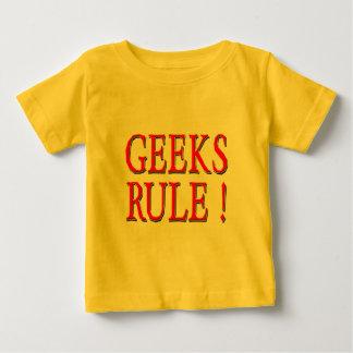 Geeks Rule !  Red Baby T-Shirt