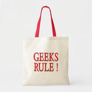 Geeks Rule !  Red Budget Tote Bag