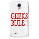 Geeks Rule ! Red Galaxy S4 Cover