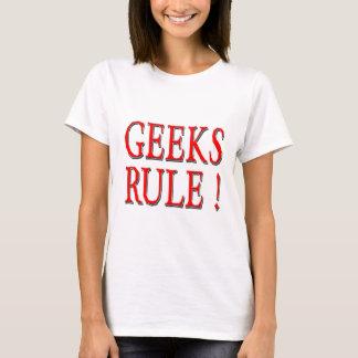 Geeks Rule !  Red T-Shirt