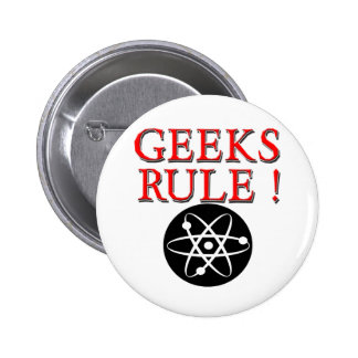 Geeks Rule !  with Atom 2 Inch Round Button