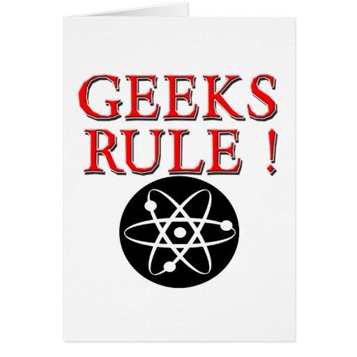 Geeks Rule !  with Atom Greeting Card