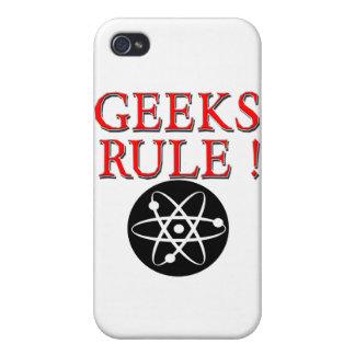 Geeks Rule ! with Atom Case For iPhone 4
