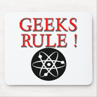 Geeks Rule !  with Atom Mouse Pad