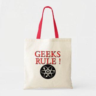 Geeks Rule !  with Atom Tote Bag