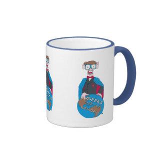 Geeks Shall Rule The World Ringer Mug