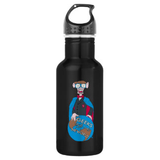 Geeks Shall Rule The World Stainless Steel Water Bottle