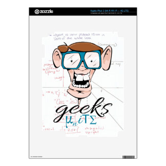 Geeks Unite Decal For iPad 3