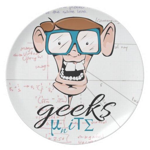 Geeks Unite Dinner Plates