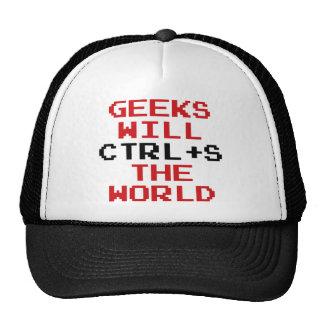 Geeks Will CTRL+S The World Trucker Hat
