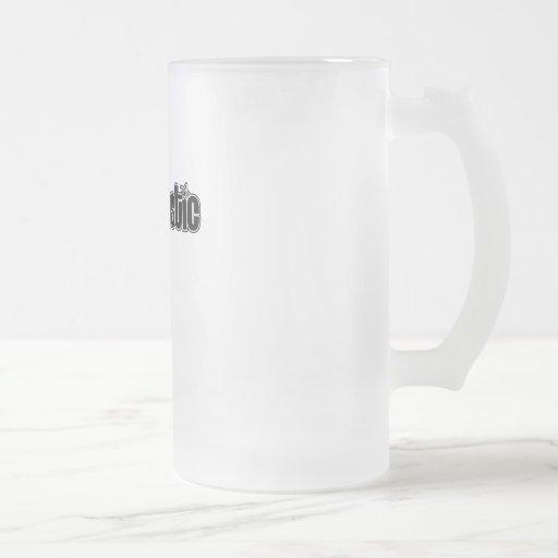 Geektastic negro tazas de café