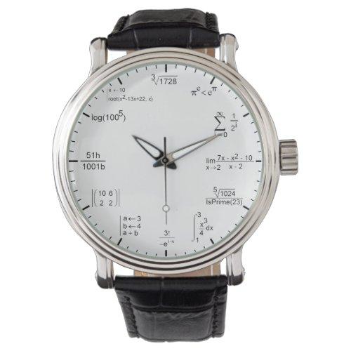 geeky and nerdy math formula equations wrist watch