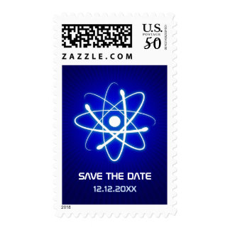Geeky Atomic Save the Date Postage