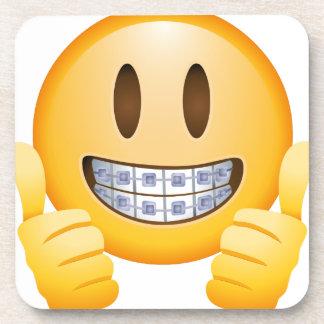 Geeky Braces Emoji Beverage Coaster