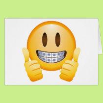 Geeky Braces Emoji Card