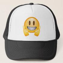Geeky Braces Emoji Trucker Hat