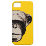 Geeky Chimp in Glasses Yellow iPhone 5 Case