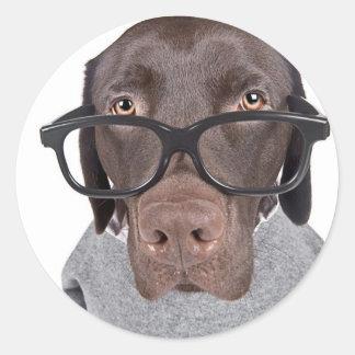Geeky Dawg Classic Round Sticker