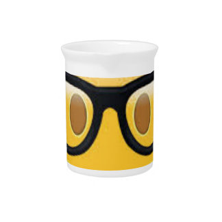 Geeky Emoji Smiley Face Drink Pitcher