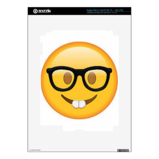 Geeky Emoji Smiley Face Skin For iPad 3