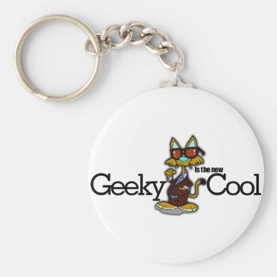 Geeky es el nuevo se refresca llavero redondo tipo pin