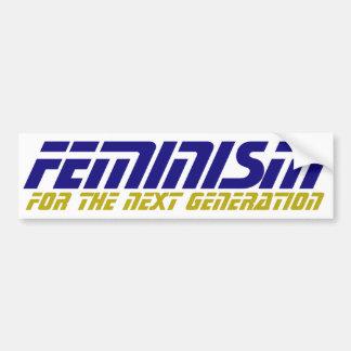 Geeky Feminist Bumper Sticker