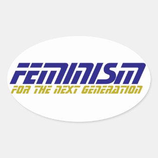Geeky Feminist Oval Sticker