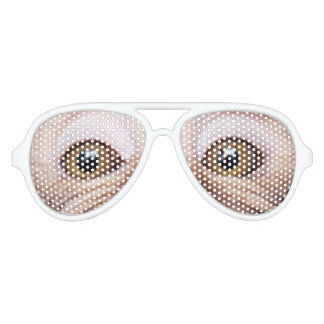 geeky funny monkey eyes aviator sunglasses