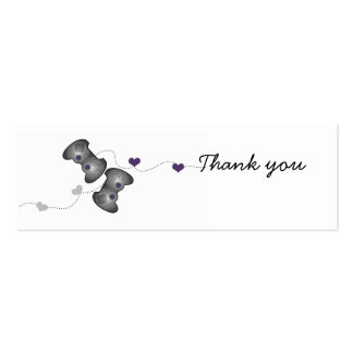 Geeky Gamer Thank You Mini Cards (Silver/Purple) Double-Sided Mini Business Cards (Pack Of 20)