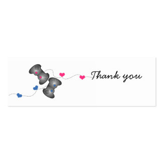 Geeky Gamer Wedding Thank You Mini Cards Double-Sided Mini Business Cards (Pack Of 20)