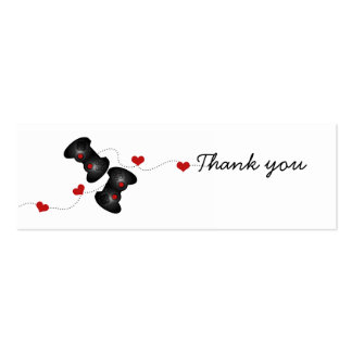 Geeky Gamer Wedding Thank You Mini Cards (Dark) Double-Sided Mini Business Cards (Pack Of 20)