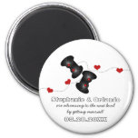Geeky Gamers Save the Date Magnet, Dark
