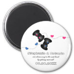 Geeky Gamers Save the Date Magnet Dark (Blue/Pink)