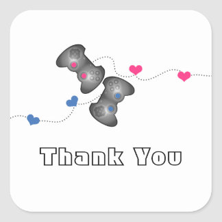 Geeky Gamers Thank You Stickers