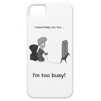 """Geeky Gaming """"I'm too busy!"""" iPhone 5 Covers"""
