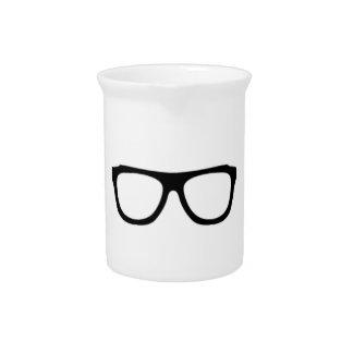 geeky glasses blue geek pitcher