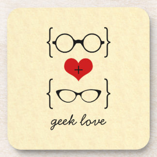 Geeky Glasses Coaster Set