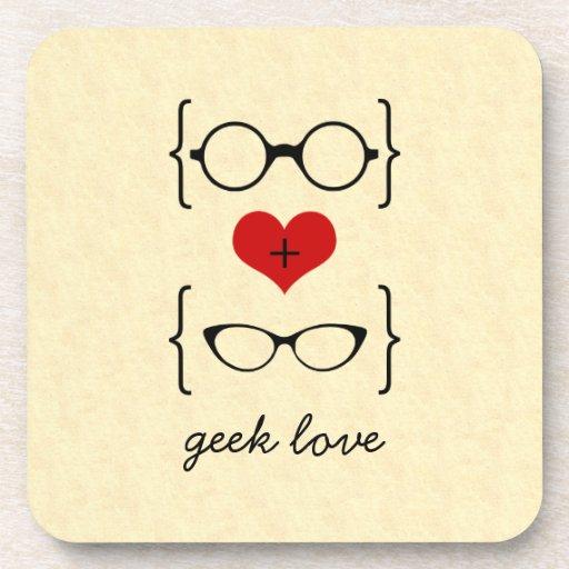 Geeky Glasses Coaster Set