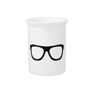 geeky glasses pink geek drink pitcher