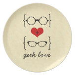 Geeky Glasses Plate