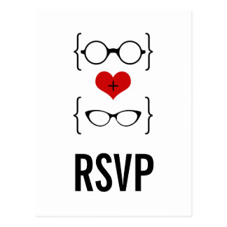 Geeky Glasses RSVP Postcard